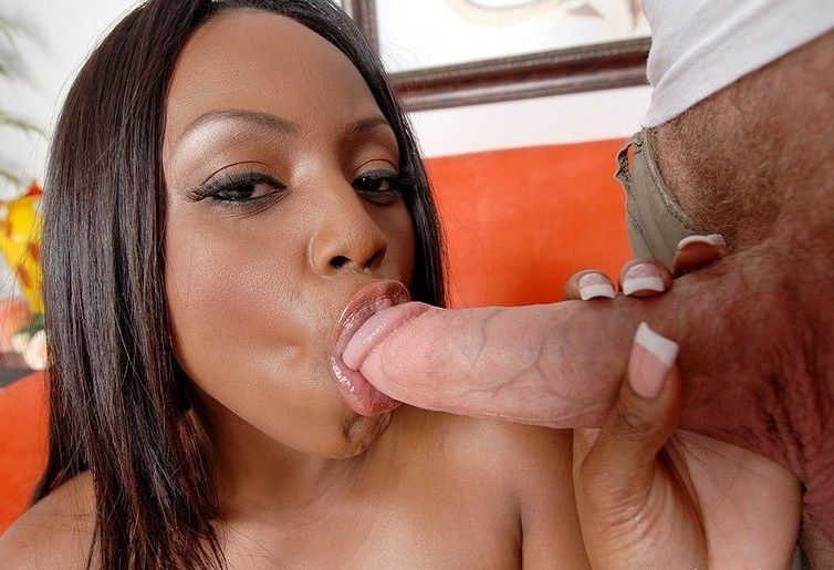 skinny tristan kingsley slides her wet tongue up and down on a cock