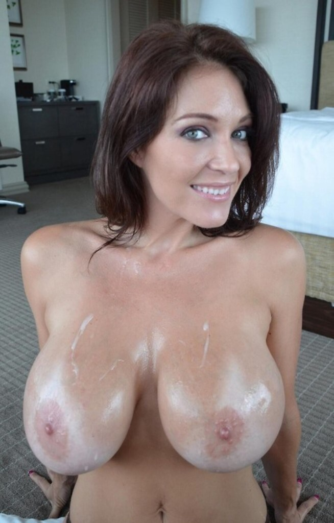 you can cum on tits only if you eat it eat your cum