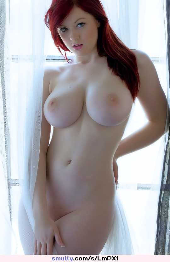 Female Young Fit Pale Red Hair Tits Nipples Red Pubes Blue Eyes