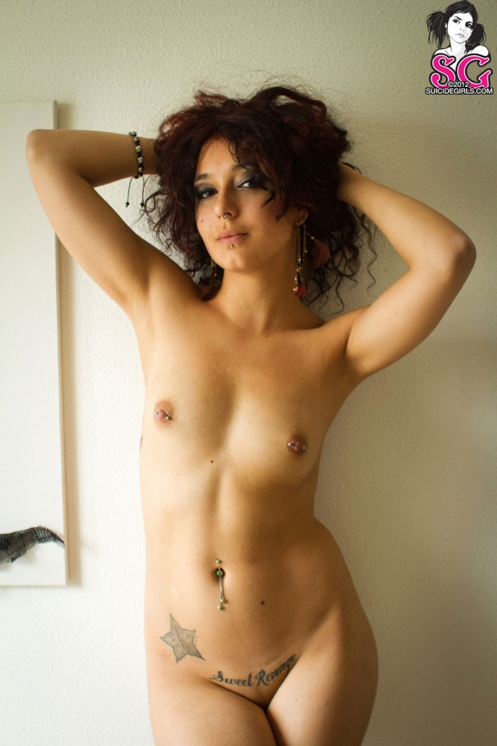 super naked woman superhero manga luscious #Jupiter in #Involved for #SuicideGirls c. #2012 - #19yo #French #brunette #breasts #smallbreasts #piercednipples #armsup
