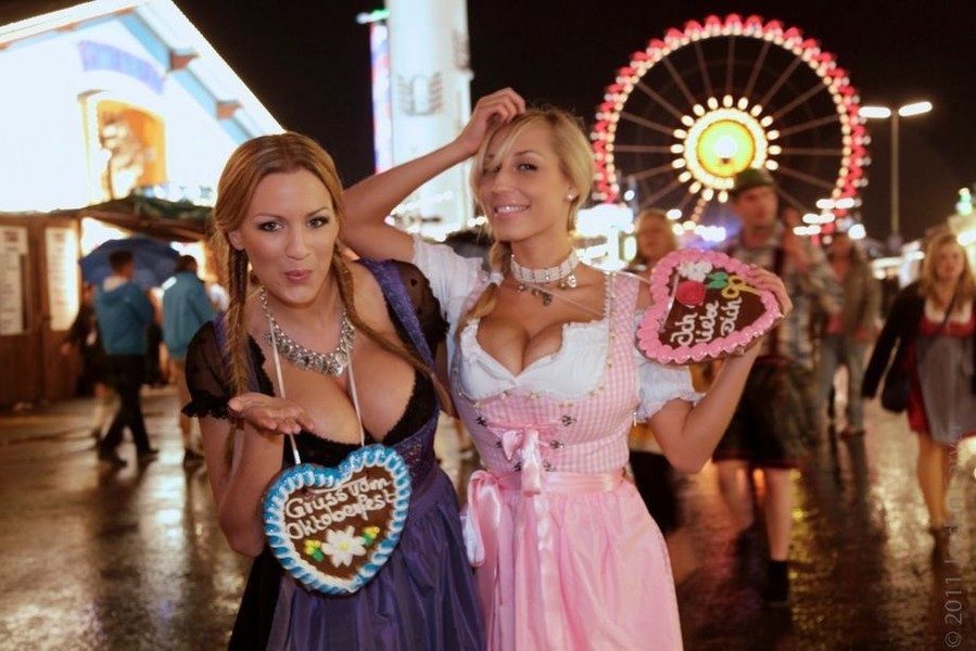 hot blond babes enjoy some toe dipping pussy insertions #oktoberfest #tits  #dirndl